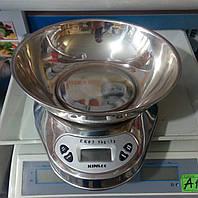 Весы кухонные со съемной чашей, нержавеющая сталь