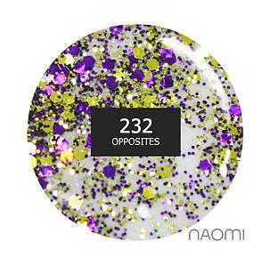 """Гель-лак Naomi """"Gel polish brilliant"""" №232"""