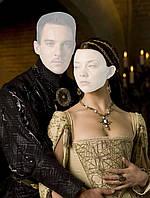 Холст с фото пары в королевском стиле
