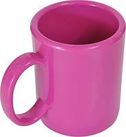 Чашка из поликарбоната Розовая  под нанесения логотипа, чашка с логотипом