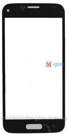 Корпусное стекло Samsung G800H Galaxy S5 mini черное, фото 2