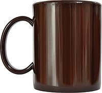 Чашка из поликарбоната Коричневая  под нанесения логотипа, чашка с логотипом