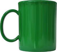 Чашка из поликарбоната Зеленая  под нанесения логотипа, чашка с логотипом