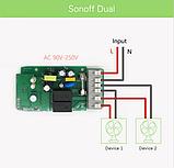 Sonoff Dual 2-Канальный WiFi Выключатель, фото 5