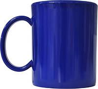 Чашка из поликарбоната Синяя  под нанесения логотипа, чашка с логотипом