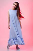 Длинное женское платья с оборкой оптом и в разницу