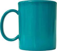 Чашка из поликарбоната Бирюзовая  под нанесения логотипа, чашка с логотипом