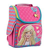 """Рюкзак школьный каркасный """"1 вересня"""" H-11 Barbie rose"""