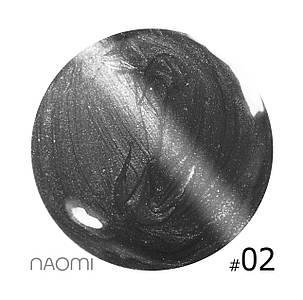 """Гель-лак Naomi """"Кошачий глаз"""" №2"""