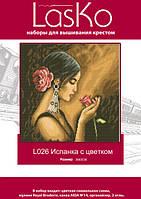 """Набор для вышивания """"Испанка с цветком"""" LasKo L026"""