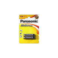 Батарейка Panasonic Alkaline Power AAA BLI 2шт (LR03REB/2BP)