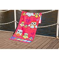 Пляжний рушник Lotus Owls 75*150 велюр