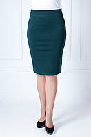Молодежная юбка карандаш зеленая Лола