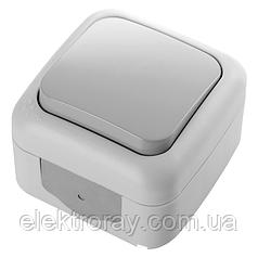 Выключатель влагозащищенный серый Viko Palmiye
