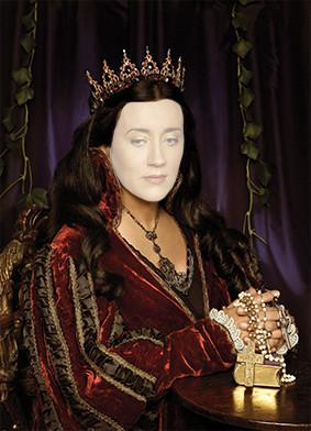 Холст фото женщины в королевском стиле