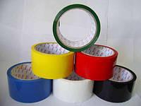 Скотч упаковочный цветной, ширина 45 мм, намотка 300 м. В упаковке 6 шт.