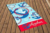 Пляжний рушник Lotus Anchor 75*150 велюр