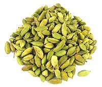 Кардамон зеленый в зернах 50 грамм, при: простуде, кашле, бронхитах, астме, хрипоте, потере вкуса, плохом пищ.