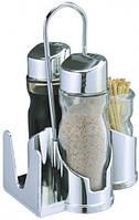 Набор для специй соль, перец, салфетки и зубочистки.