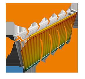 Воздушные потоки стального радиатора Tiberis тип 22 500х1400