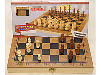 I5-52 Шахматы 3 в 1 (шахматы, шашки, нарды), дерево 39,5 Х 39,5 см., фото 1