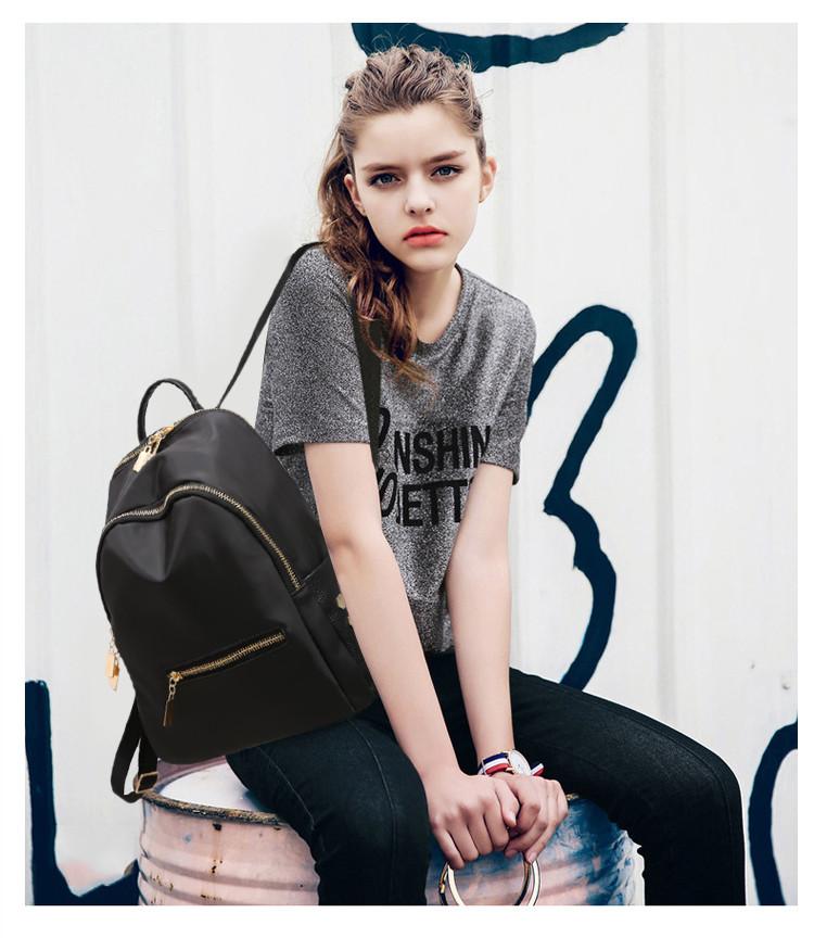 Маленький женский рюкзак черный