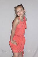 """Сарафан для девочки""""SMILE """" коралл. Детская одежда оптом."""