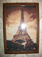 """Вышитая картина для интерьера """"Париж"""", фото 1"""