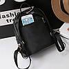 Маленький женский рюкзак черный, фото 7