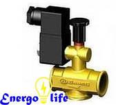 Газовый электромагнитный клапан GrosS GSV16/RMO N.A. 25, нормально открытый с ручным взводом