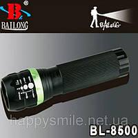 Фонарь светодиодный Bailong BL-8500 с оптическим зумом
