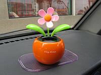 Сувенир танцующий цветок Flip-Flap на солнечной батарее, фото 1