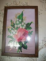"""Вышитая картина для интерьера """"Роза"""", фото 1"""