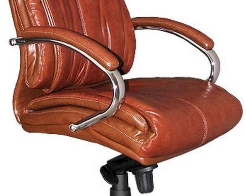 Кресло Аризона HB тм AMF Коричневый (CS-688E chrome PU Brown). Размеры:69х66х115-125 см.