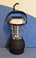 Кемпинговый динамо фонарь (лампа) на солнечной батарее с радио