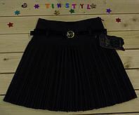 Школьная плиссированная  юбка для девочки  на рост 116-158