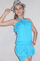 """Костюм для девочки """"Бантик"""" голубой . Детская одежда оптом., фото 1"""