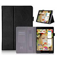 Чехол книжка ISIN Premium Leather Case With Hand Strap And Card Slots для Asus ZenPad 3S 10 Z500M 9.7 (Черный)