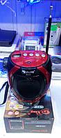 Портативна акустична система golon rx-678, мр3-плеєр, fm радіо, usb/sd, вбудований led-ліхтарик