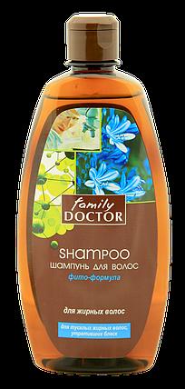 """Шампунь """"Фіто-формула для жирного волосся """" Family Doctor 500 мл (1714) , фото 2"""