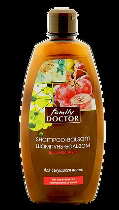 """Шампунь-бальзам """" Фіто-формула для посіченого волосся """" Family Doctor 500 мл  (1745) , фото 2"""