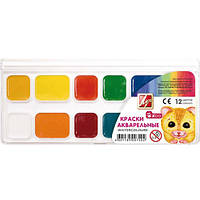 Краски акварельные медовые «Зоо(Мини)»19С1249-08 Луч, 12 цветов