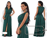 Вечернее платье шелковое с разрезом Марго