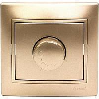 Диммер 500 Вт с фильтром и предохранителем Lezard  MIRA, светло-коричневый перламутр 701-3131-117