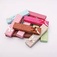 Подарочная коробочка № 81-1 для цепочки, браслета  длинная  12 шт в упаковке ассорти цветов  [21/5/2 см]
