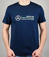 Мужская футболка Puma Mercedes 4110 Тёмно-синяя
