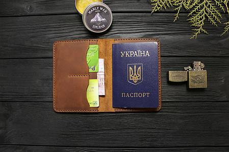 Мужской кошелёк обложка ручной работы VOILE vl-cvw1-lbrn-brn, фото 2