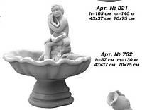 Фонтан «Мальчик с ракушкой» (пристенный, одноярусный) 43х37 см, 70х75 см, Н=87 см