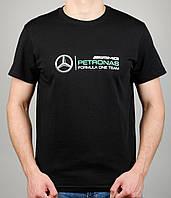 Мужская футболка Puma Mercedes 4113 Чёрная