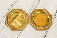 Два бронзовых блюдца, подставки, бронза, винтаж, Германия, фото 1